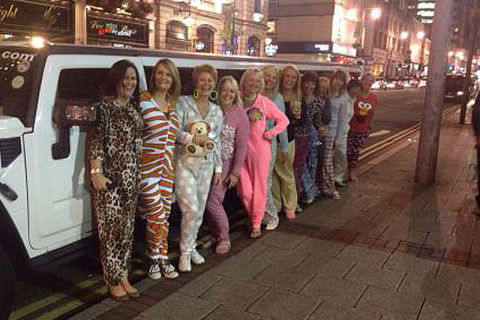 Hen Night in the LImo!