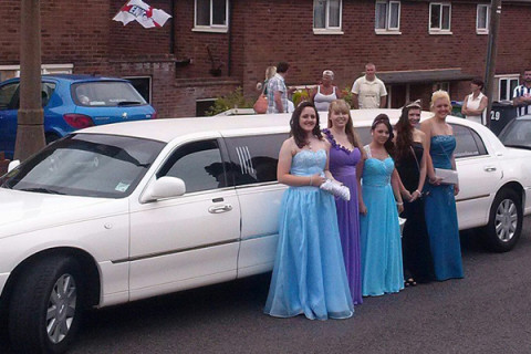 Prom girls enjoying the limo experience!